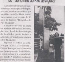 Jornal Brazilian Times – Escultura comemorativa 90 anos do 'Bondinho do  Pão-de-Açúcar'