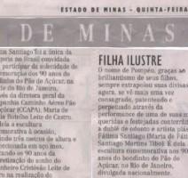 Jornal Estado de Minas – Pompéu – Filha Ilustre