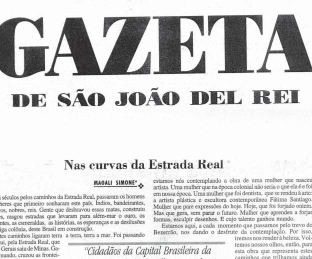 Jornal Gazeta de São João Del Rey – Nas curvas da Estrada Real