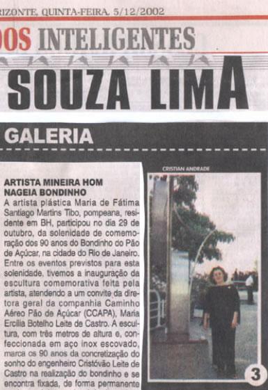 Jornal Hoje Em Dia – Artista mineira homenageia Bondinho