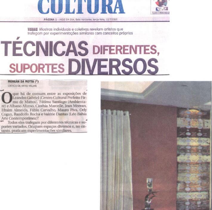 Jornal Hoje Em Dia – Técnicas diferentes, suportes diversos
