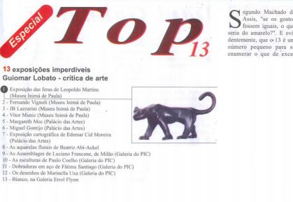 Jornal Top – 13 Exposições Imperdíveis